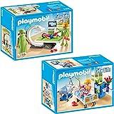 PLAYMOBIL City Life Die freundliche Kinderklinik 2-tlg. Set 6659 6660 Röntgenraum + Krankenzimmer...