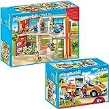 PLAYMOBIL City Life Die freundliche Kinderklinik 2-tlg. Set 6657 6685 Kinderklinik mit Einrichtung +...