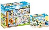 Playmobil® City Life 2er Set 70190 70192 Großes Krankenhaus mit Einrichtung + Kinderkrankenzimmer