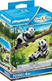 PLAYMOBIL Family Fun 70353 - 2 Pandas mit Baby, ab 4 Jahren
