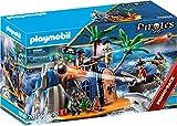 PLAYMOBIL Pirates 70556 Pirateninsel mit Schatzversteck und schwimmfähigem Boot, Für Kinder von 4...