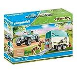 PLAYMOBIL Country 70511 PKW mit Ponyanhänger, Ab 4 Jahren