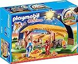 PLAYMOBIL Christmas 9494 Lichterbogen 'Weihnachtsgkrippe' mit ausklappbaren Standfüßen, Ab 4...