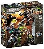 PLAYMOBIL Dino Rise 70624 Gefecht der Giganten: Dinosaurier T-Rex und Deinonychus mit Teammitglied...