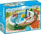 PLAYMOBIL Family Fun 9422 Swimmingpool mit Pump-Dusche, Ab 4 Jahren