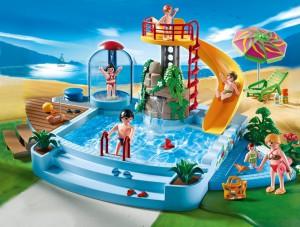 Ein Playmobil Schwimmbad