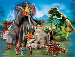Playmobil Dinosaurier-Landschaft