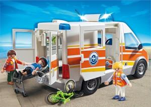 Ein Playmobil Krankenwagen