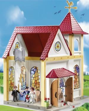 Eine Playmobil Kirche